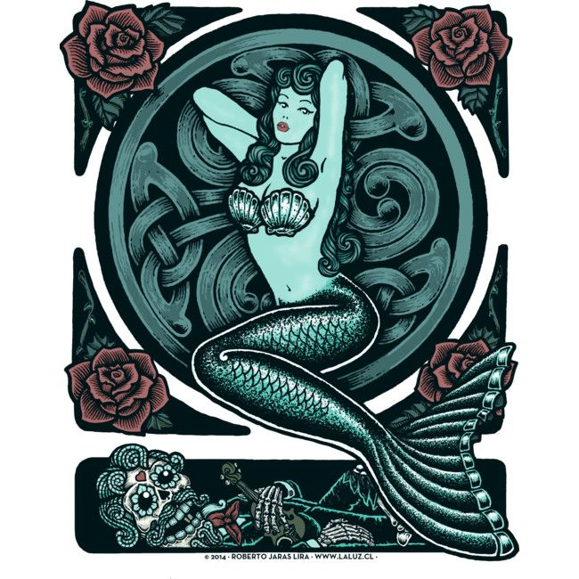 Blue Mermaid is a Sticker designed by RobertoJL to illustrate your life and is available at Design By Humans