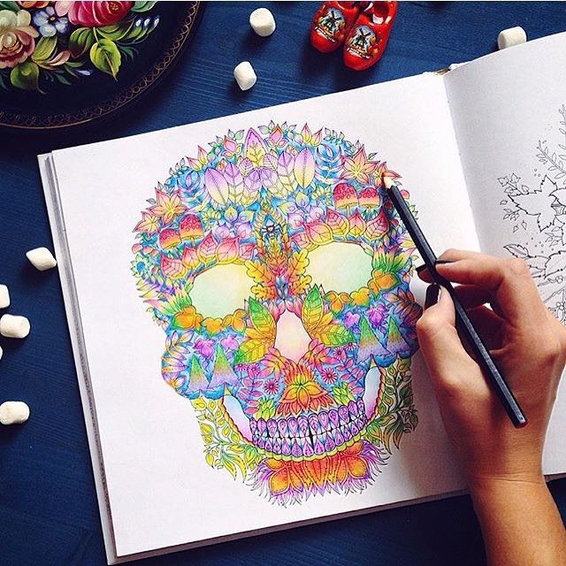 SKULL ENCHANTED FOREST See More Instagram Media Majesticcoloring