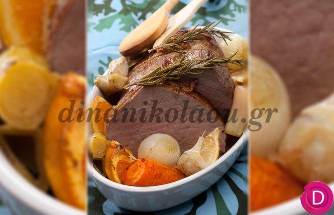 Μοσχαράκι στο φούρνο με πορτοκάλι και λεμόνι | Dina Nikolaou