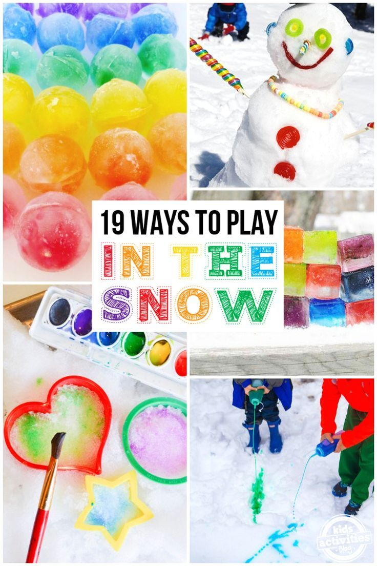 SUPER FUN WAYS TO PLAY IN THE SNOW - Kids Activities