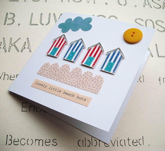 Lovely Little Beach Huts Card by suezybees