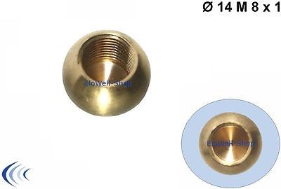 Messingkugel Ø 14 mm Sackgewinde M8x1 Gewinde Messing-Kugel Messing unbehandelt