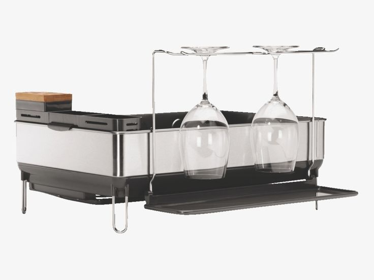 Best Simplehuman Black Stainless Steel Steel Frame Dish Drainer 400 x 300