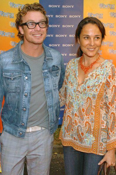 Simon Baker with wife Rebecca Rigg  - Sony Tropfest 2006