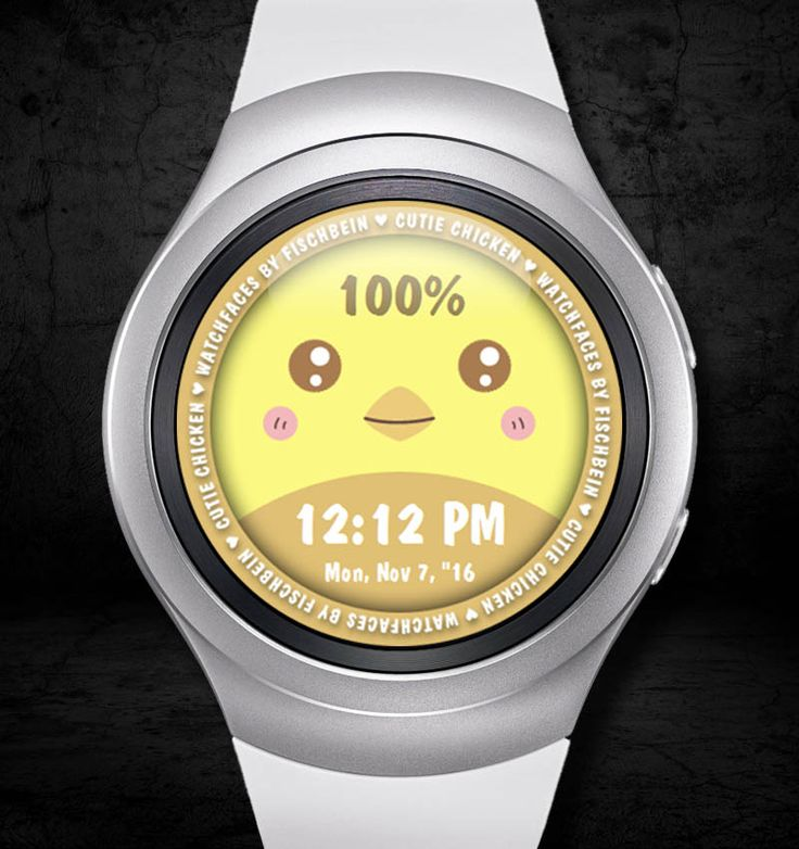 Cutie Chicken 12h – Watchfaces by Fischbein