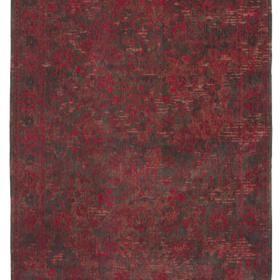 """Czerwony dywan w delikatne kwiaty bawełna szenilowa. Kolekcja Flora to kwieciste wzory, od delikatnych płowych, po wyraźnie kontrastowe, podane w rozmaitych zestawach kolorystycznych. Dywan poddany procesowi szlachetnego postarzenia by uzyskać efekt modnego vintage. Pozwala utrzymać odpowiednią wilgotność i zmniejszyć zanieczyszczenie powietrza w pomieszczeniu (materiał """"oddycha"""", wchłania kurz i substancje chemiczne). 100% bawełny szenilowej."""