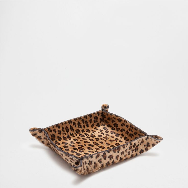 Leopard Print Leather Small Change Holder - Accessories - Decoration | Zara Home United States of America