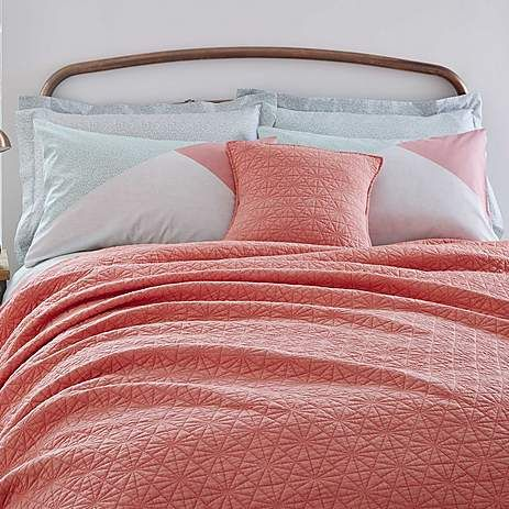 Quilted Coral Bedspread | Dunelm