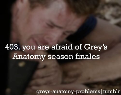 The worst season finales in the world!! Because it's a cliffhanger and then the first episode back is cliffhanger!!!