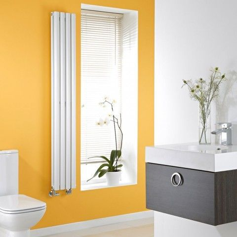 Milano Aruba Slim - White Space-Saving Vertical Designer Radiator 1600mm x 236mm (Double Panel) - http://www.bestheating.com/milano-aruba-slim-white-space-saving-vertical-designer-radiator-1600mm-x-236mm-double-panel.html