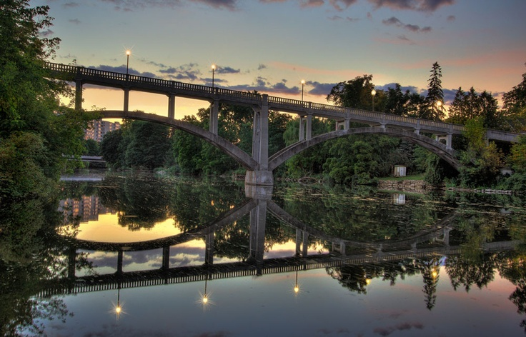 Heffernan footbridge in Guelph, Ontario