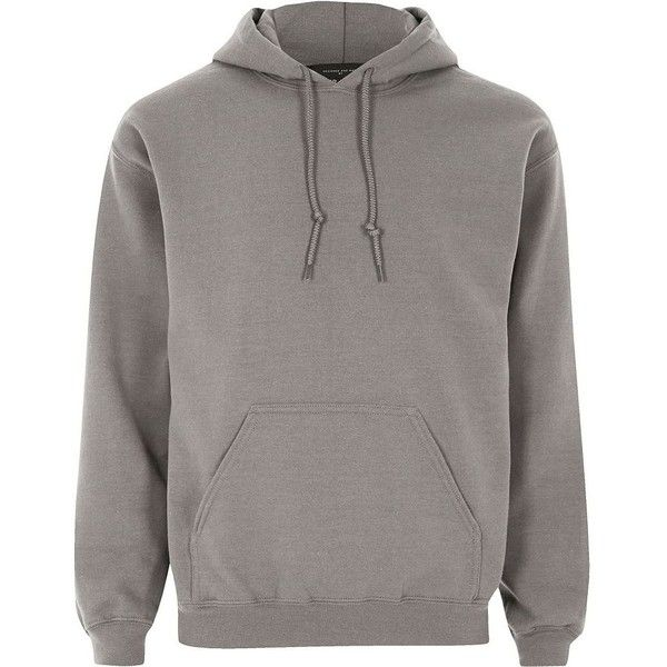 River Island Dark grey casual hoodie ($31) ❤ liked on Polyvore featuring men's fashion, men's clothing, men's hoodies, grey, hoodies, mens cotton hoodies, mens tall hoodies, mens grey hoodies, mens hoodies and mens sweatshirts and hoodies