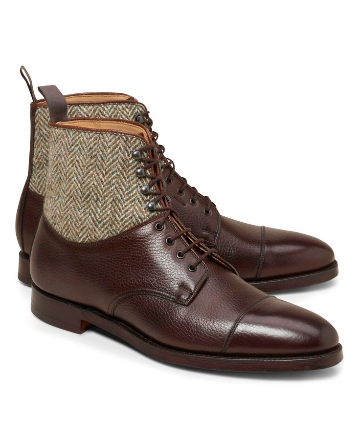 Peal & Co.® Leather and Tweed Boots - Brooks Brothers