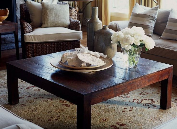 Jennifer Worts Design - living rooms - square coffee tables, wood plank coffee tables, country coffee tables, wicker chair, rolled-arm sofas...