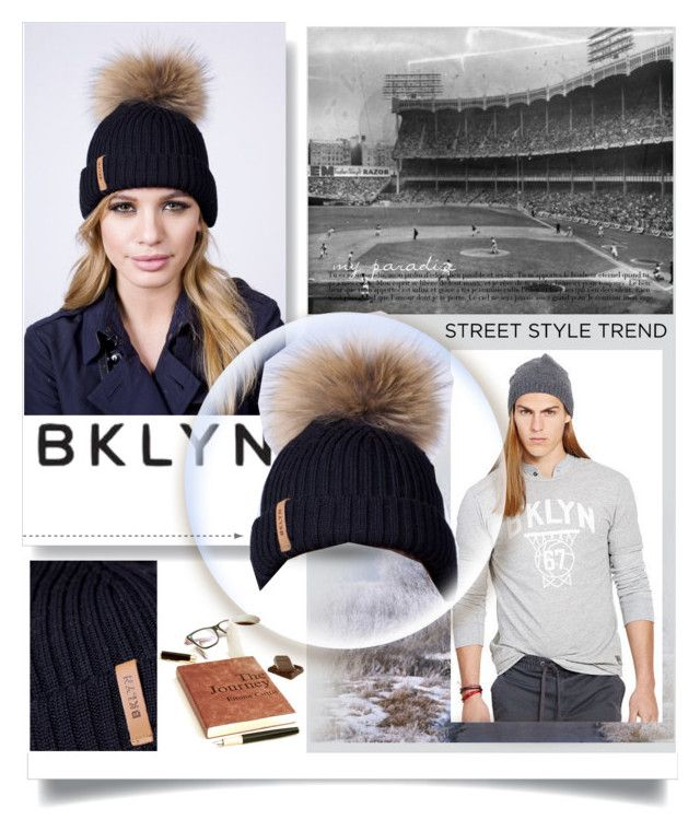 """Black Bobble Hat"" by manuela-cdl ❤ liked on Polyvore featuring Ralph Lauren and bklyn"