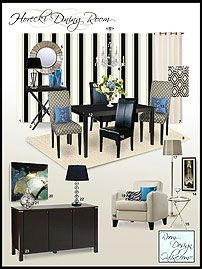 An E Decorating Concept Board In The Hollywood Regency Decorating Style