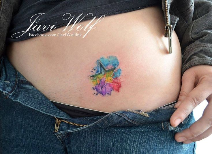Love the watercolor concept, but maybe make the inside of the star negative space...