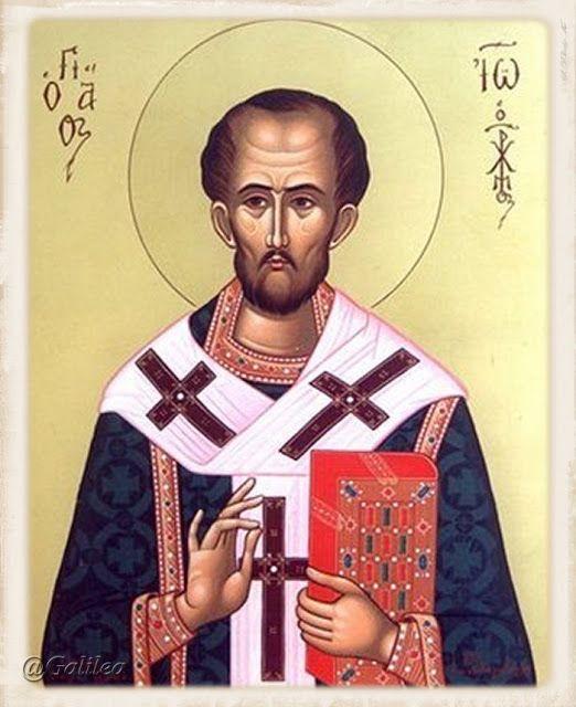 Santa María, Madre de Dios y Madre nuestra: San Juan Crisostomo 13 de septiembre