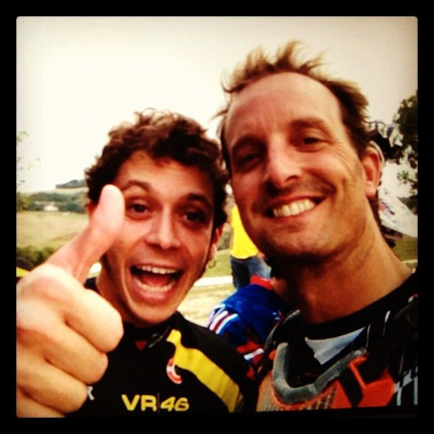 Colin Edwards MotoGP at the Texas Tornado Bootcamp, with Valentino Rossi in attendance.   Good friends.
