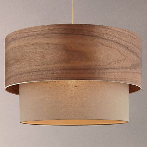 Buy Design Project by John Lewis No.028 Ceiling Light, Walnut Veneer/Grey Online at johnlewis.com