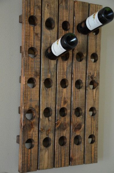 Antique Riddling Style Wine Rack Wall by RchristopherDesigns