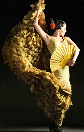Yellow might be considered bad luck for flamenco dancers but I love it!