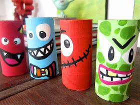 Monstruos rollo papel