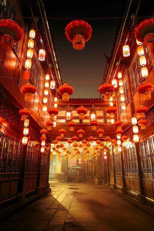 Jinli street   Chengdu   China by Pascal Kiszon - looks just like a scene out of Spirited Away