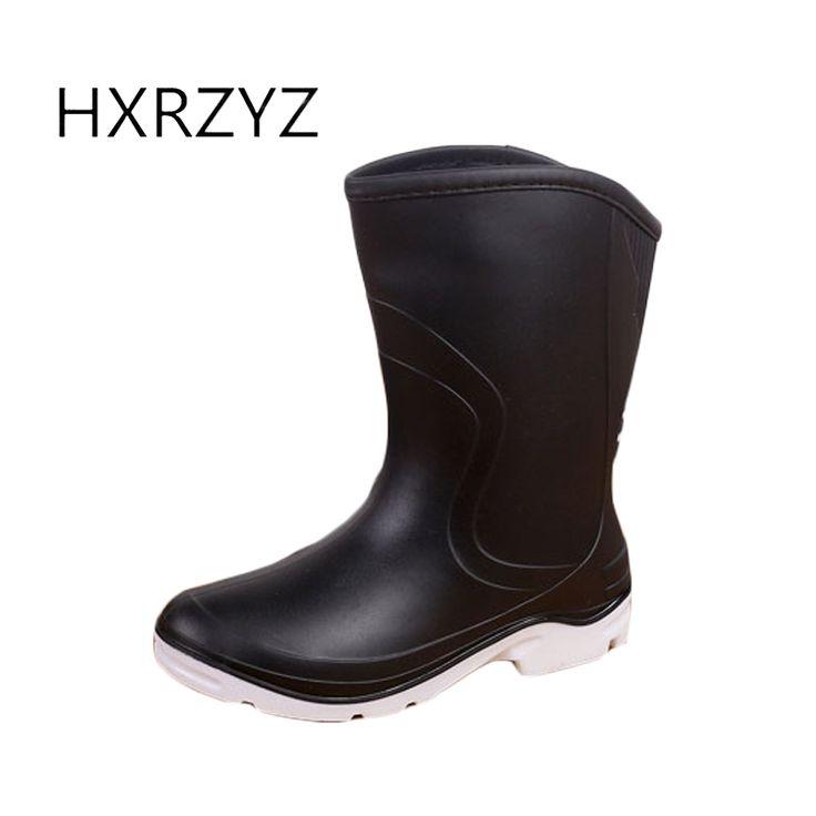 Large size spring/autumn shoes women new fashion women Rain Boots ladies PVC Slip-Resistant waterproof Rubber boots for women #Affiliate