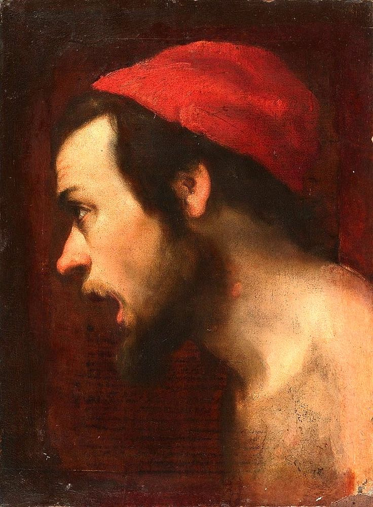 Aniello Falcone, Portrait of a Man with a Red Cap, 17th century