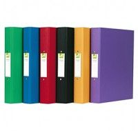 Q-Connect Assorted 2-Ring A4 Binders KF02005 - A4 Ring Binder