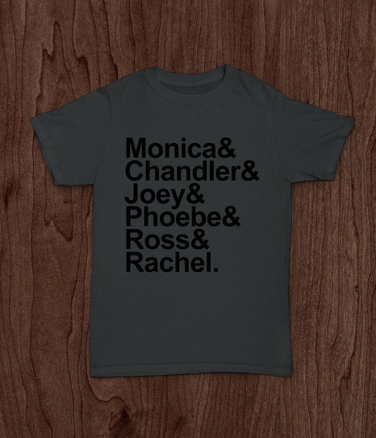 Friends TV Show, Adult T Shirt, Squad Goals, Monica Chandler Joey Phoebe Ross Rachel, Ladies Shirt