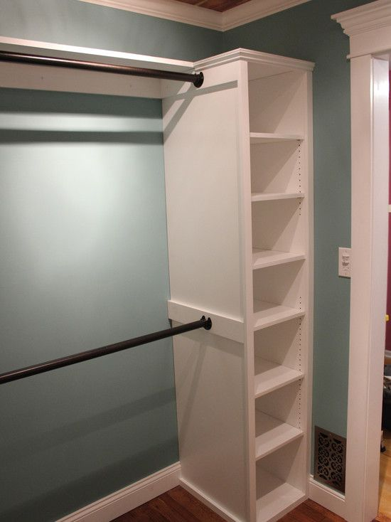 Love the painted closet walls.  Master Bedroom Closets Design, Pictures, Remodel, Decor and Ideas - page 6... tons of ideas