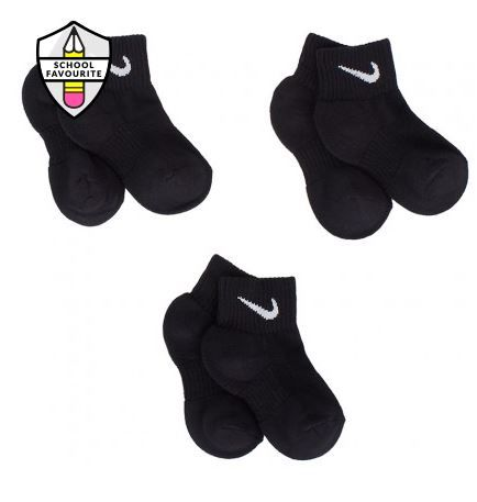 Nike Black 3 Pack Cotton Socks | AlexandAlexa Pin to Win Competition #AALovesSchool