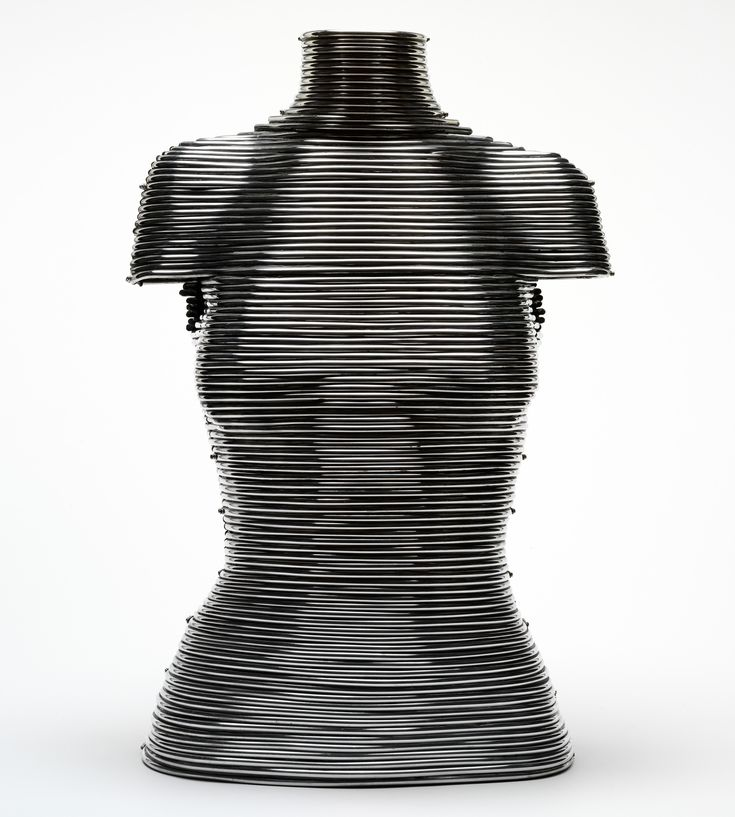 Coiled corset by Shaun Leane for Alexander McQueen Autumn/Winter 1999. #Halloween #Fashion