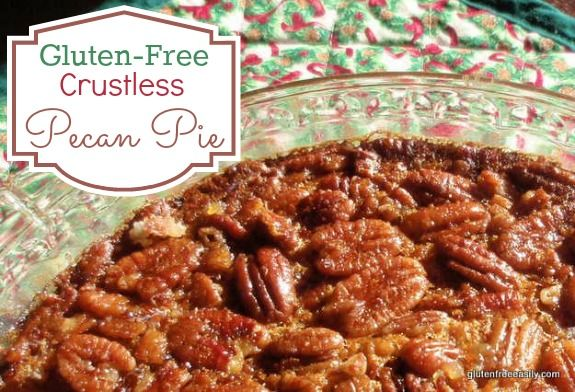 Easy Crustless Gluten-Free Pecan Pie Recipe Desserts with granulated sugar, light corn syrup, eggs, butter, vanilla extract, pecans