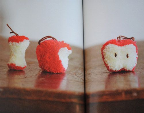 Apple Pom Poms!  zakka life: Japanse Craft Book: How To Make Pom Poms