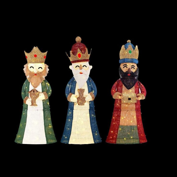 592 best images about nativity figures three wise men for Outside christmas figures