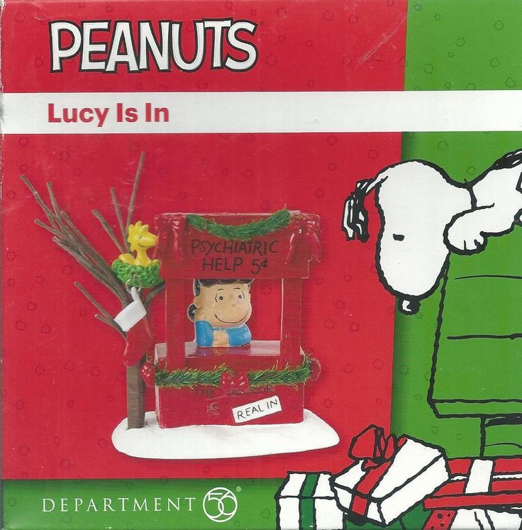 Peanuts Xmas Village Lucy Is In Psychiatric Help Stand 2012 Department 56 NIB