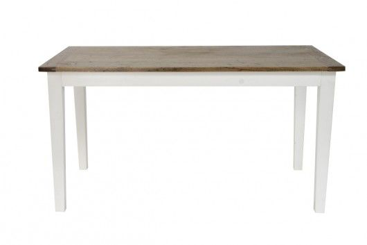 Andy Oak Dining Table with White Legs