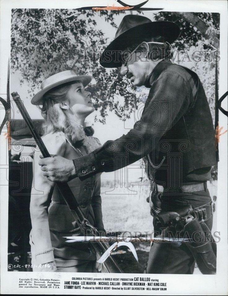 1975 Press Photo Cat Ballou Film Jane Fonda Lee Marvin Confrontation Scene