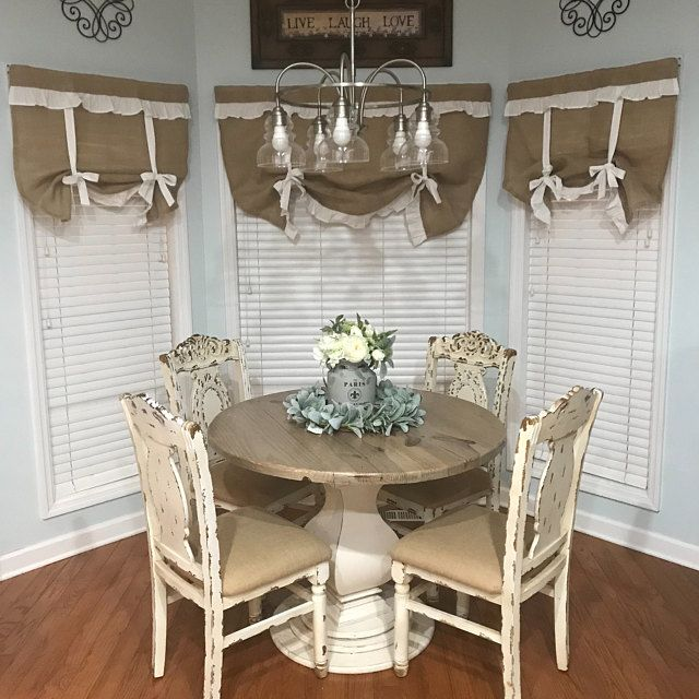 Burlap Curtains Ruffled Country Kitchen Tie Up Valance Rustic Etsy In 2020 Curtains Living Room Country Kitchen Burlap Curtains Kitchen