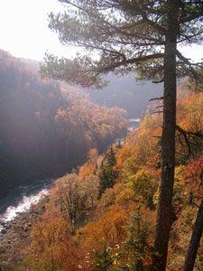 The Mestachibo in the Fall, near Mont Saint Anne