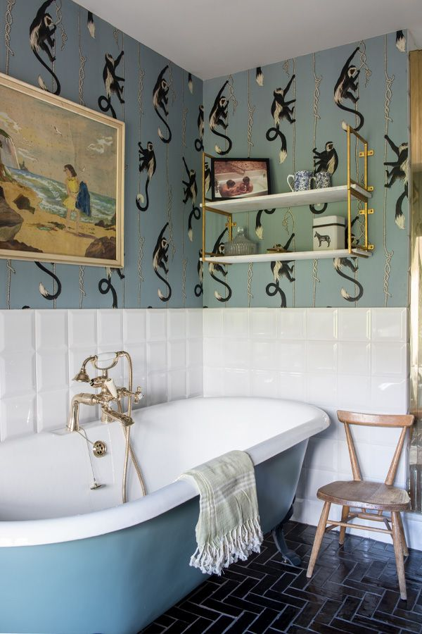 Troop Wallpaper Dusk In 2019 Bathroom Wallpaper