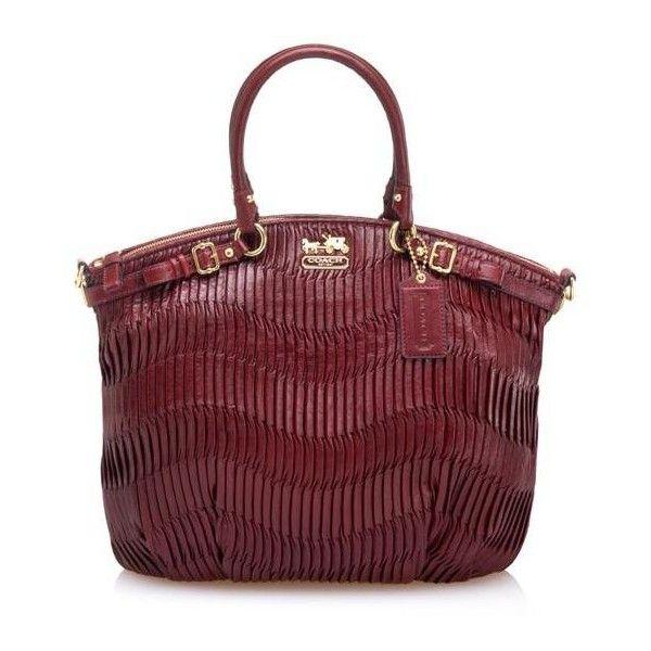 Coach Madison Gathered Leather Lindsey Satchel Handbag found on Polyvore