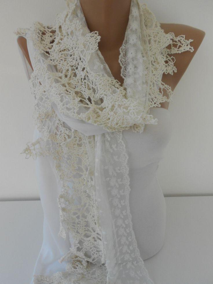 ScarfCluBLace Scarf Wedding Scarf Shawl Bridal Accessories  www.scarfclub.net