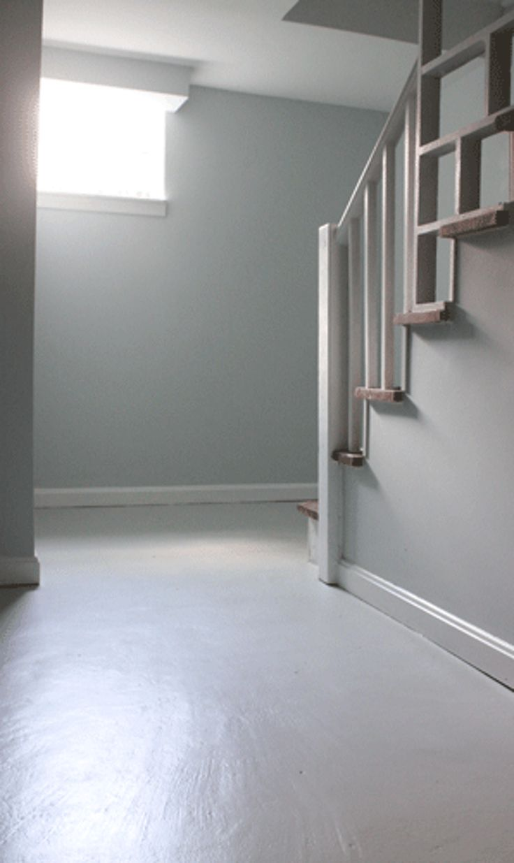 Cement floors that have been painted stained or coloured are