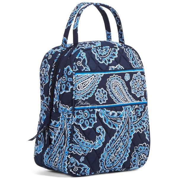 Vera Bradley Lunch Bunch Bag in Blue Bandana ($34) ❤ liked on Polyvore featuring home, kitchen & dining, food storage containers, accessories, blue bandana, lunch bags, vera bradley, lunch bag, lunch thermos and vera bradley lunch bag