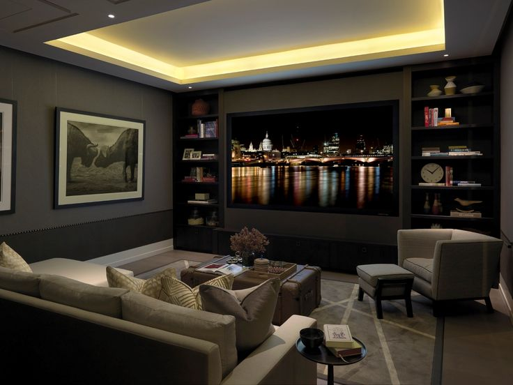 25 best ideas about contemporary recessed lighting on for Living room theater