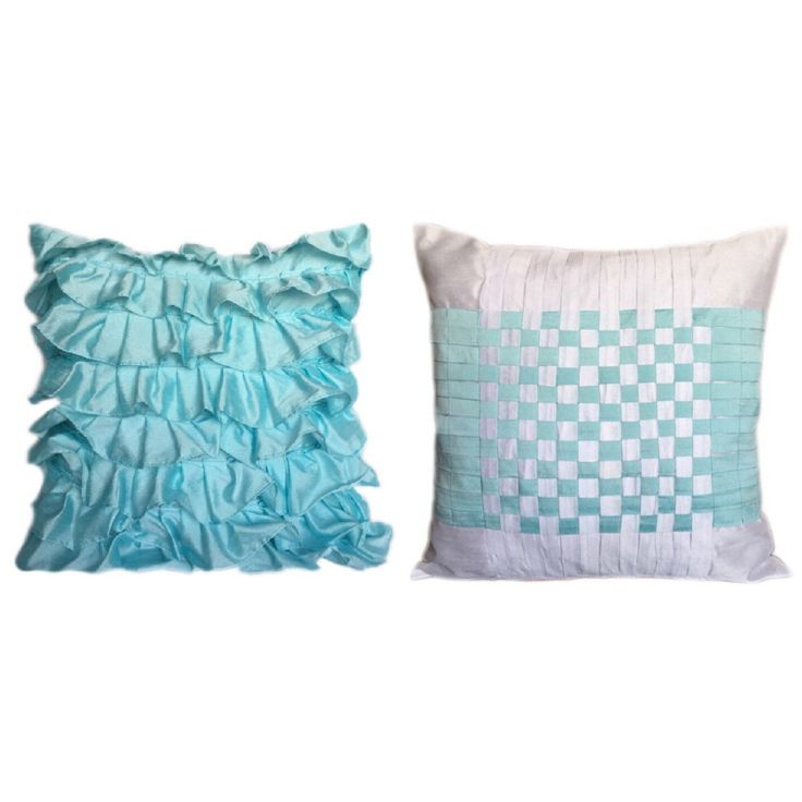 Being the freshness home with these aqua blue color pillow covers - The White Petals Decor